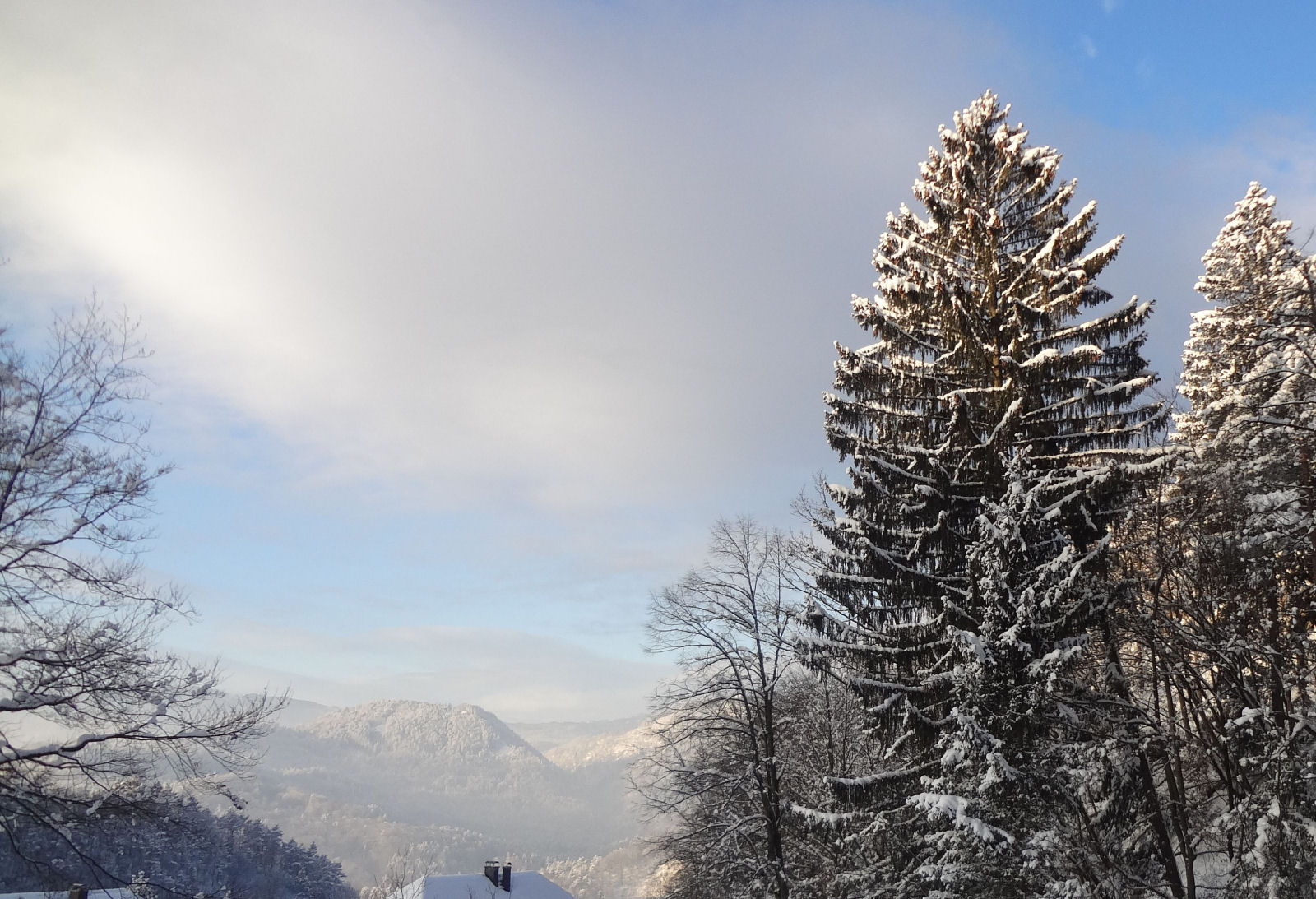Mountains of the Slovenian Alps in winter