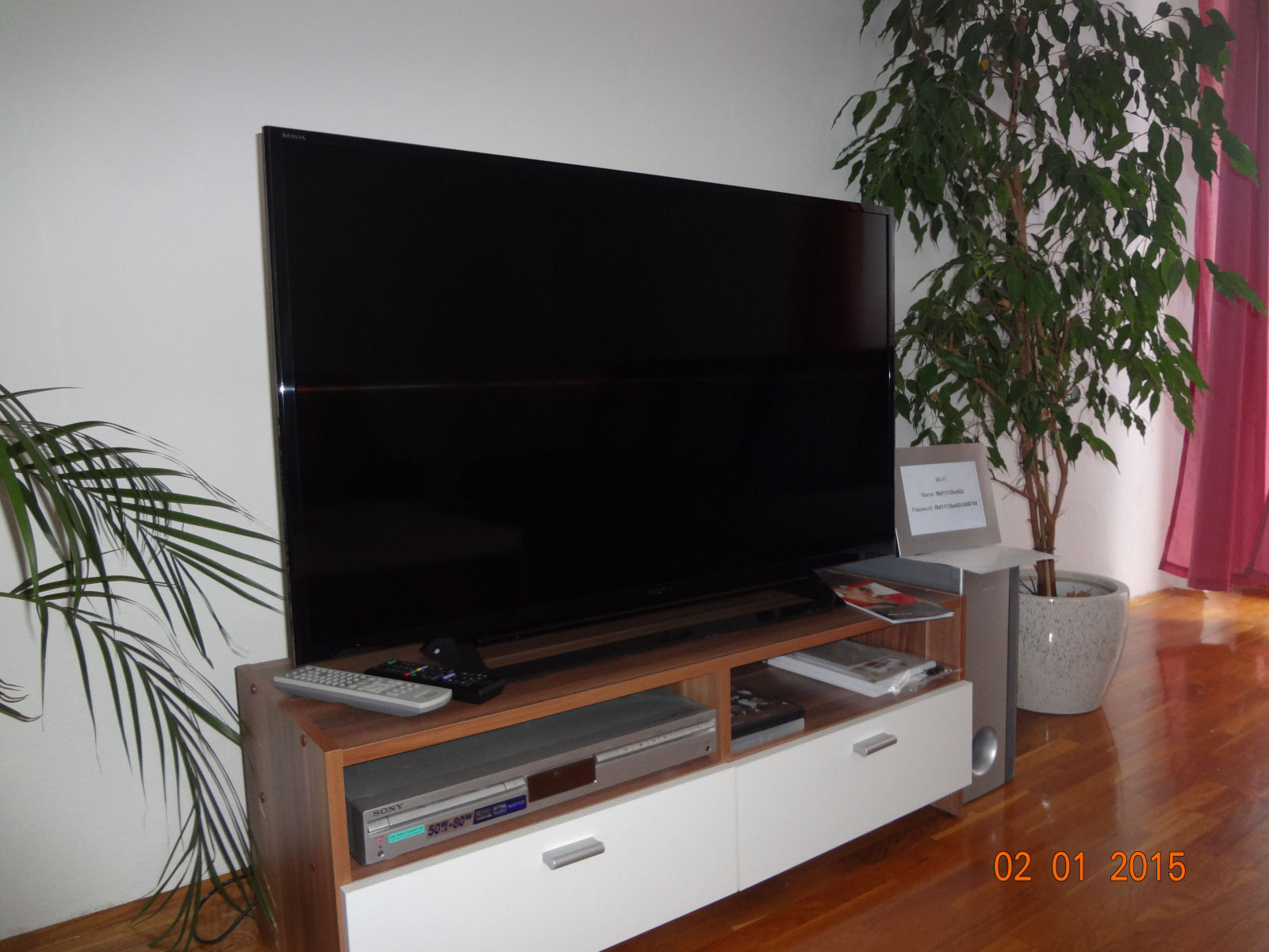 A new LCD TV in the Fine Stay apartment
