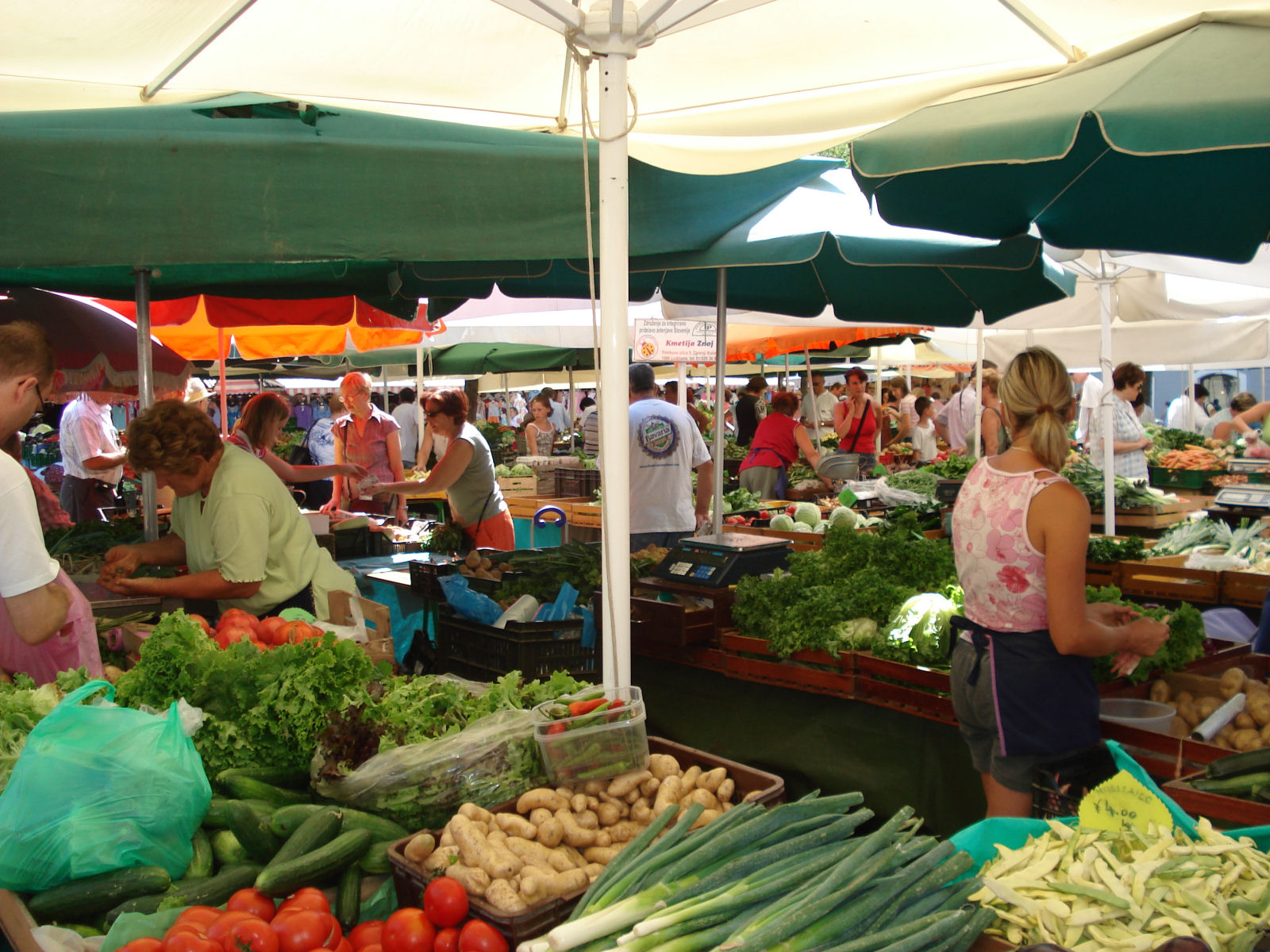Open market in Ljubljana, Slovenia