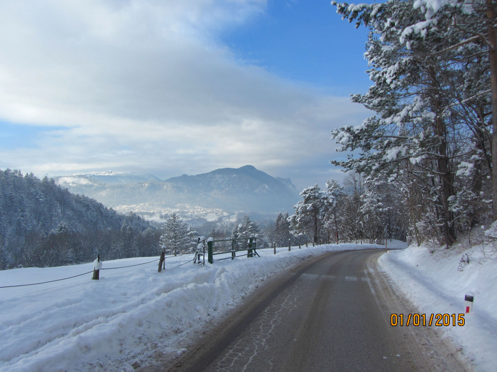 Slovenian Alps in winter