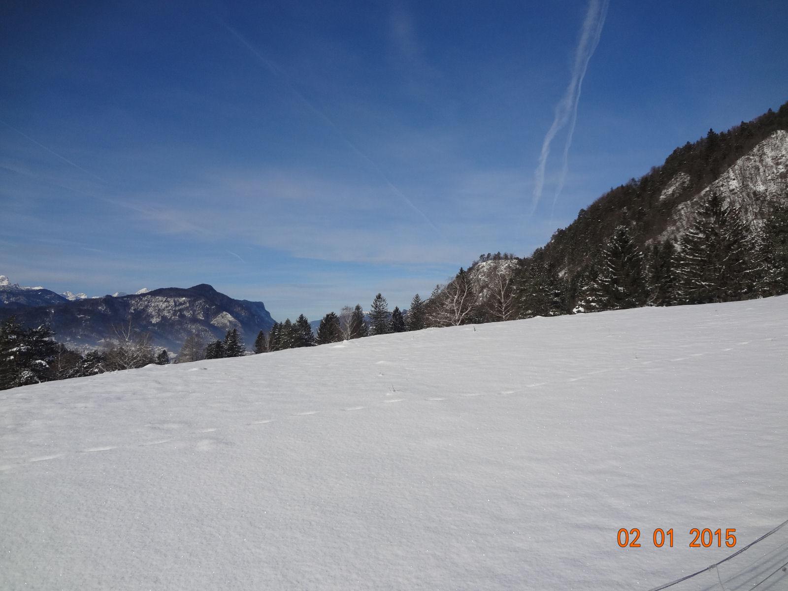 Slovenian Alps on a sunny winter day