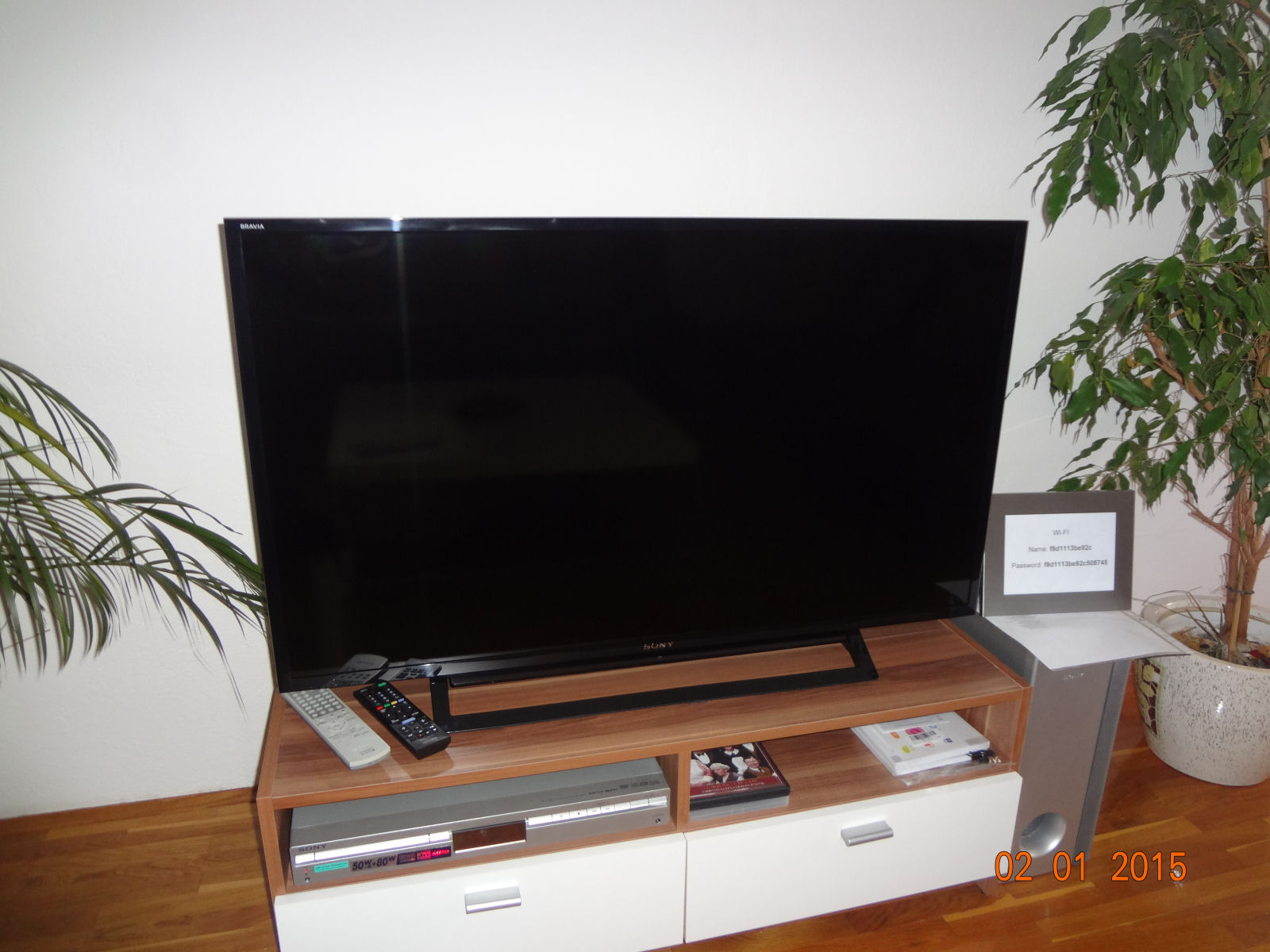 We have just bought a new Sony Bravia LCD TV for the Fine Stay apartment