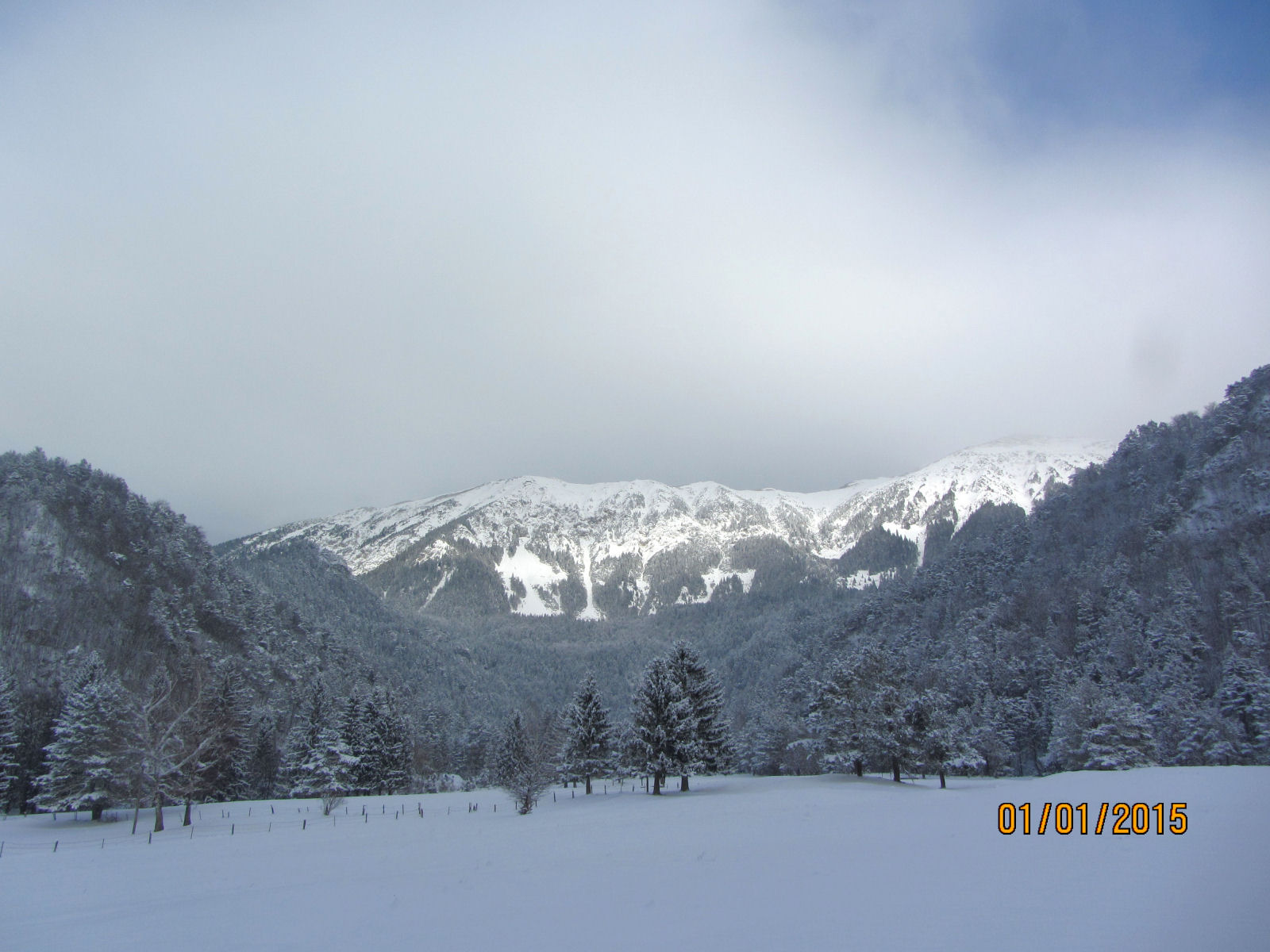 The Karavanke mountains in winter