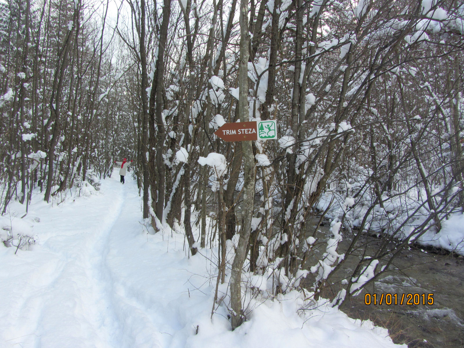 Trim trail of the Zavrsnica recreation park in winter