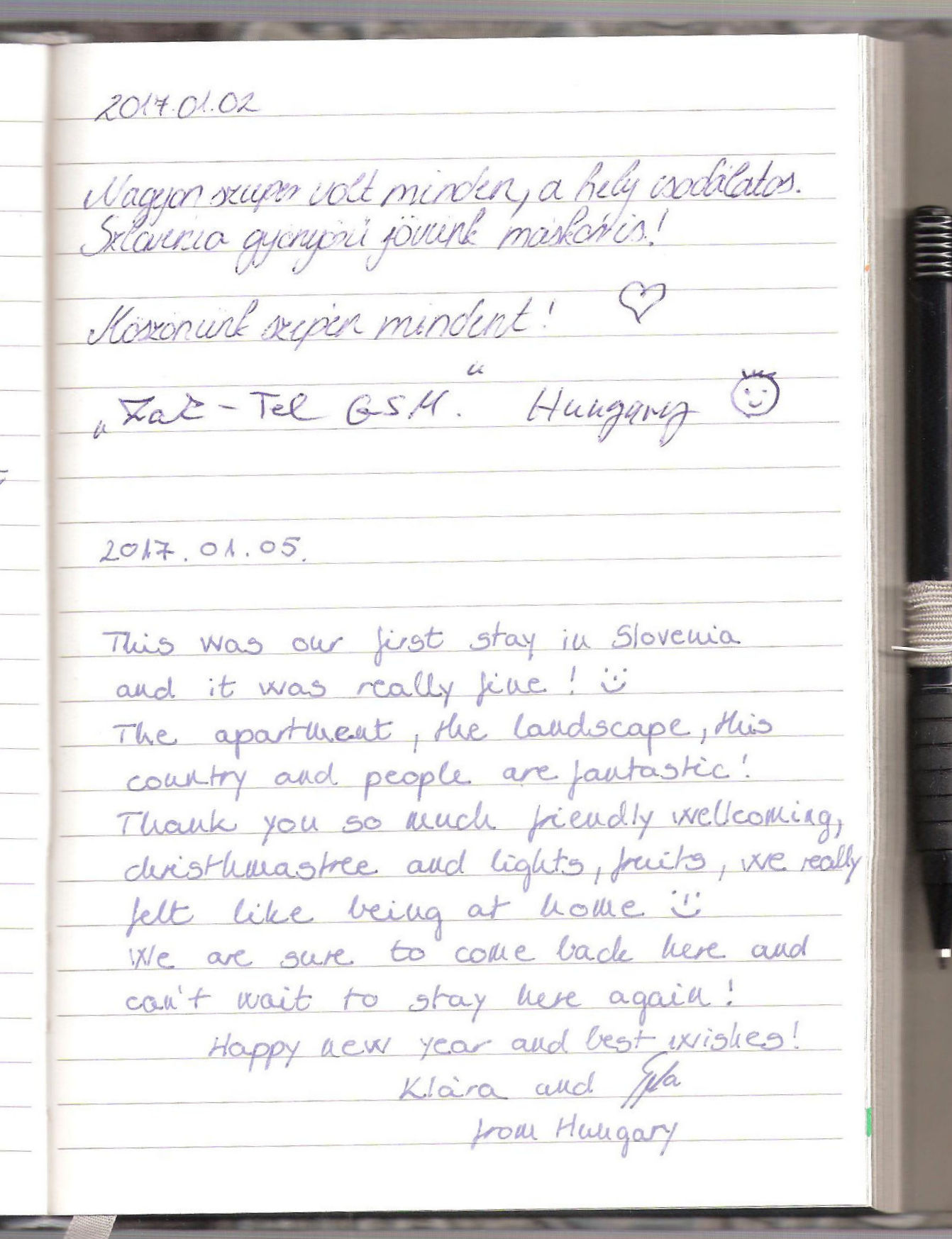 Handwritten Comments In The Guest Book, page 75