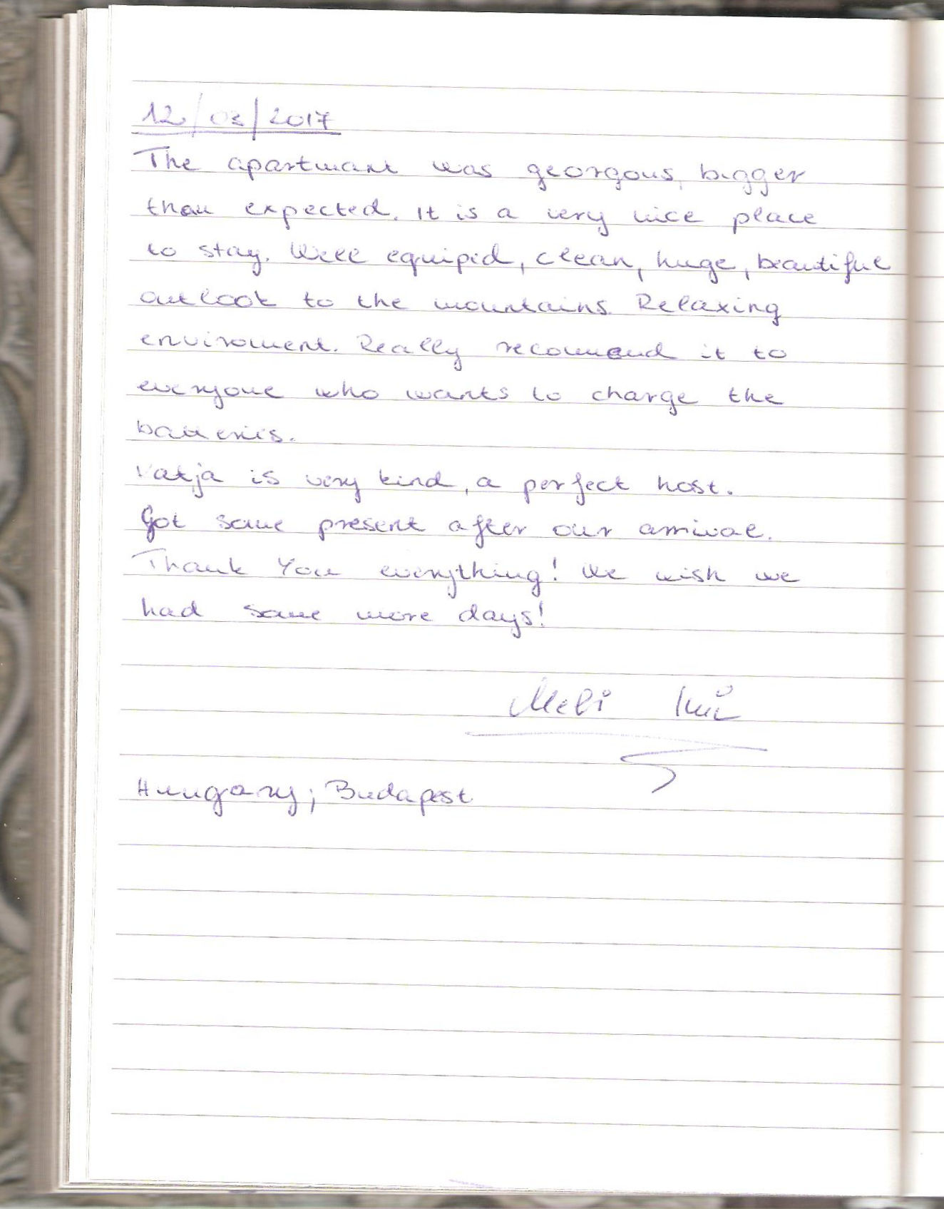 Handwritten Comments In The Guest Book, page 78