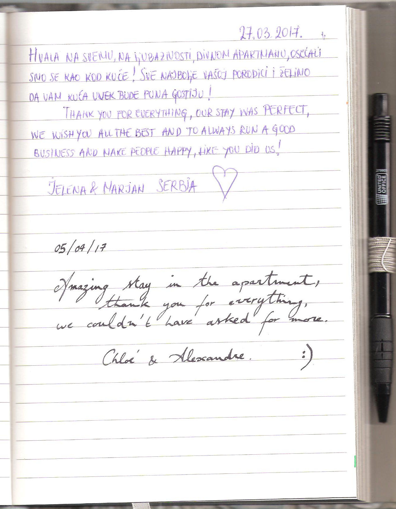 Handwritten Comments In The Guest Book, page 79