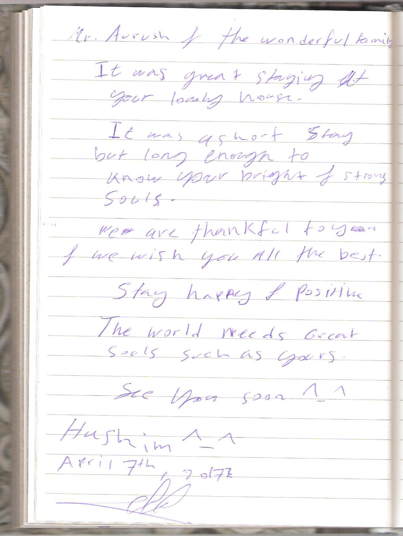 Handwritten Comments In The Guest Book, page 80