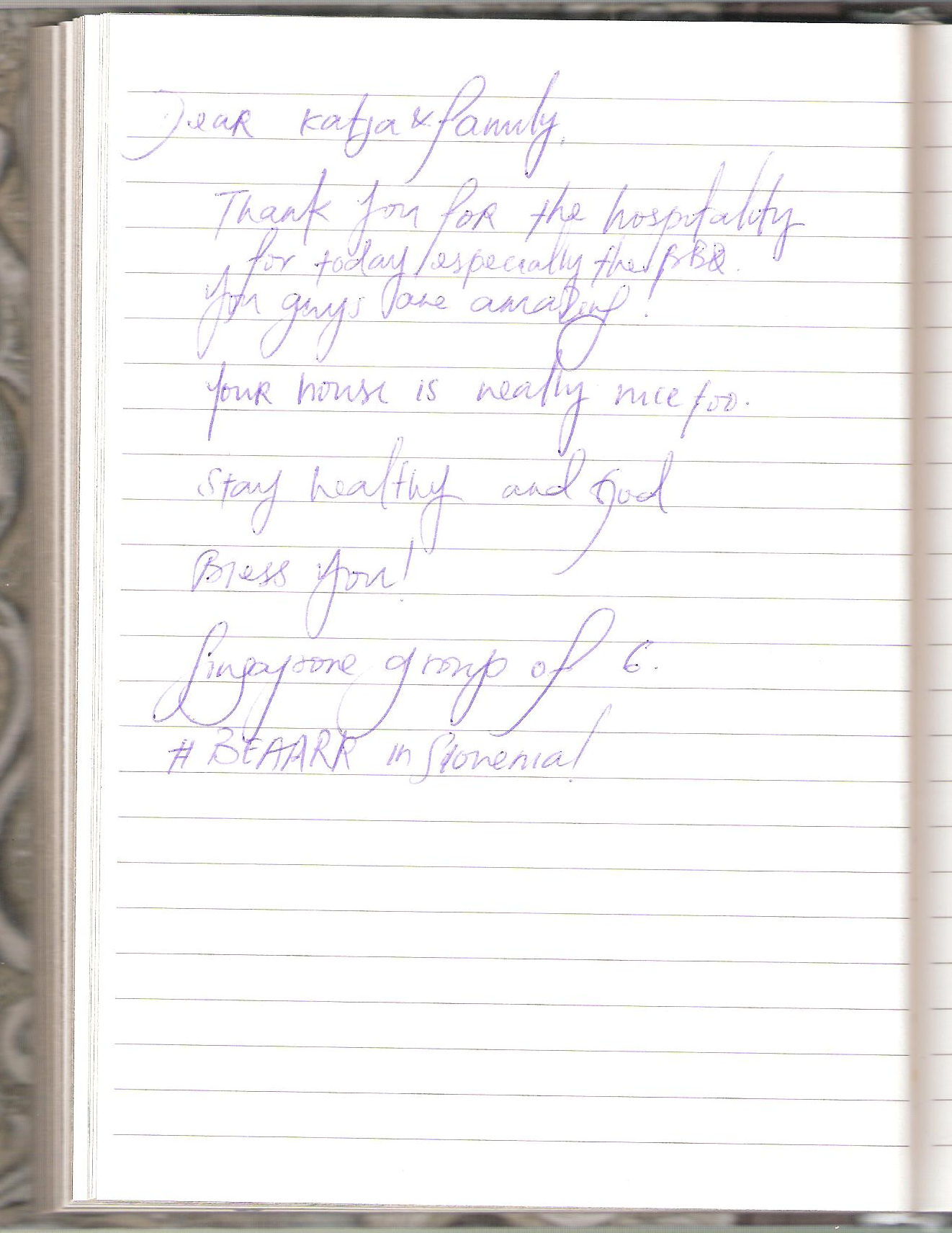 Handwritten Comments In The Guest Book, page 82