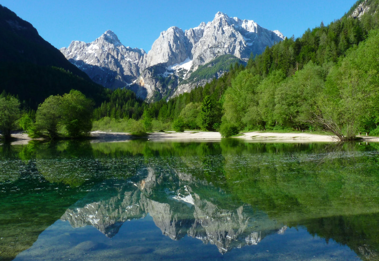 Lake Jasna in the Triglav national park, Slovenia