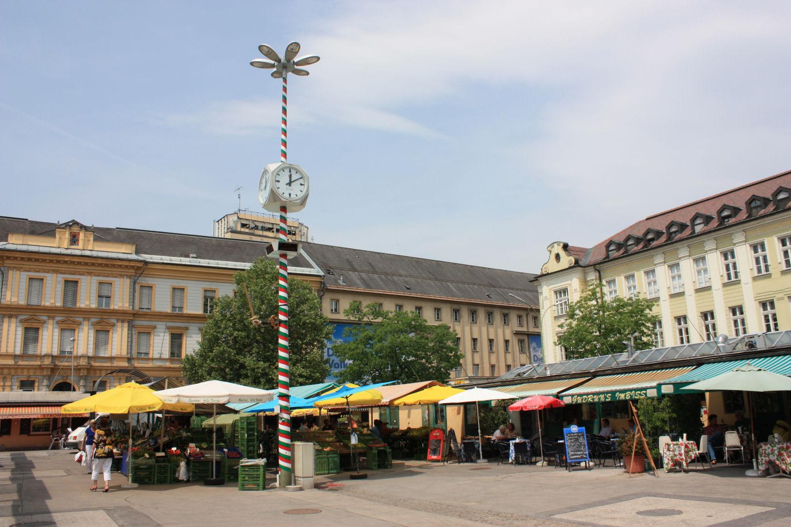 Klagenfurt's Benedictine Market in downtown Klagenfurt offers everything your heart desires.