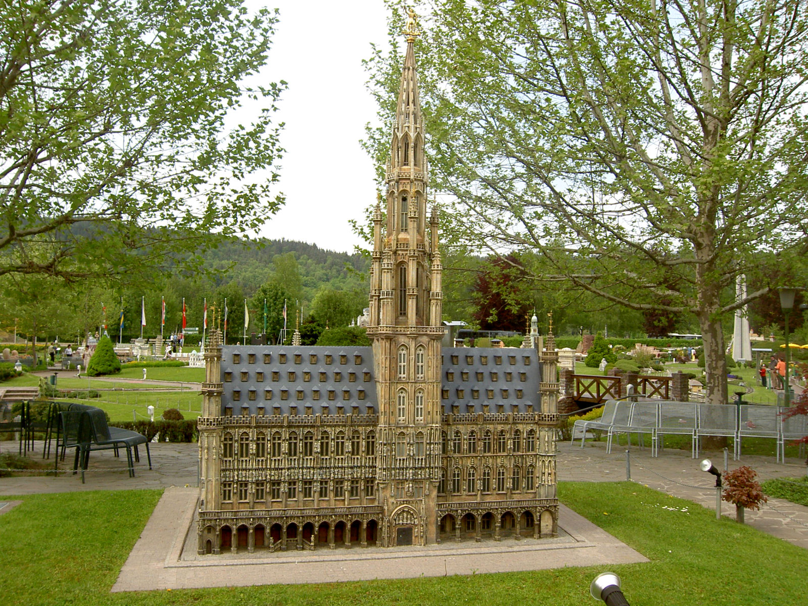 Brussels Town Hall displayed at the Minimundus miniature park in Klagenfurt, Austria