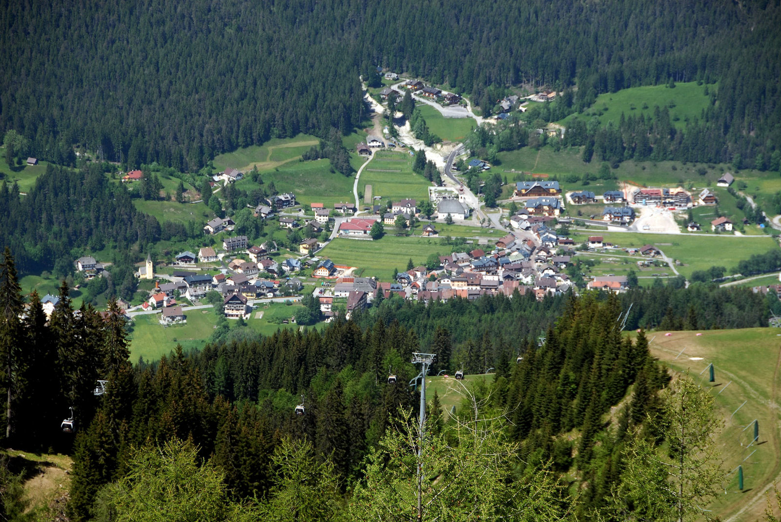 Another view from top of Mount Lussari at the the Camporosso village