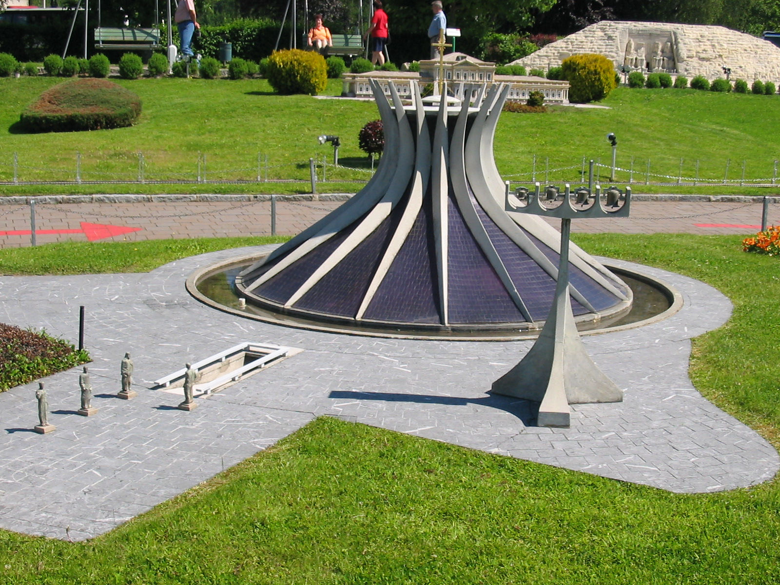 Cathedral of Brasilia (Brazil) displayed at the Minimundus miniature park in Klagenfurt, Austria