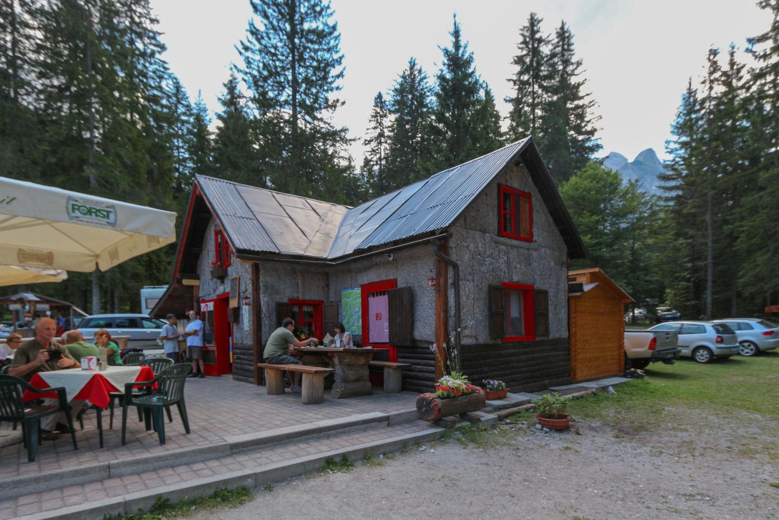 Restaurant near the Laghi di Fusine lakes