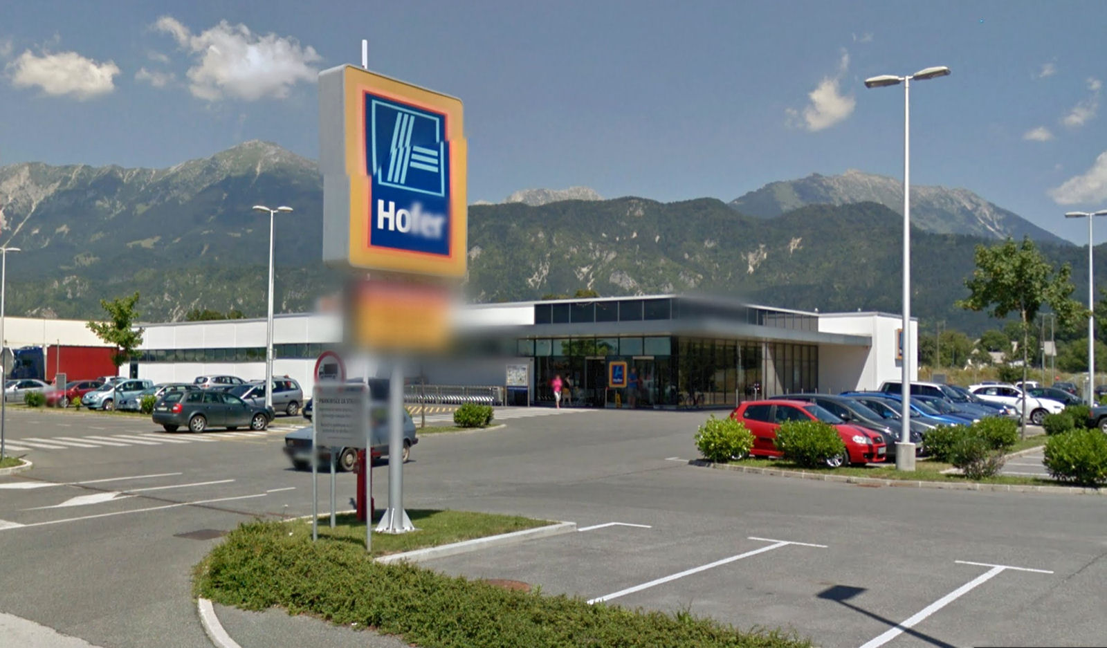 Hofer supermarket in Lesce, Slovenia