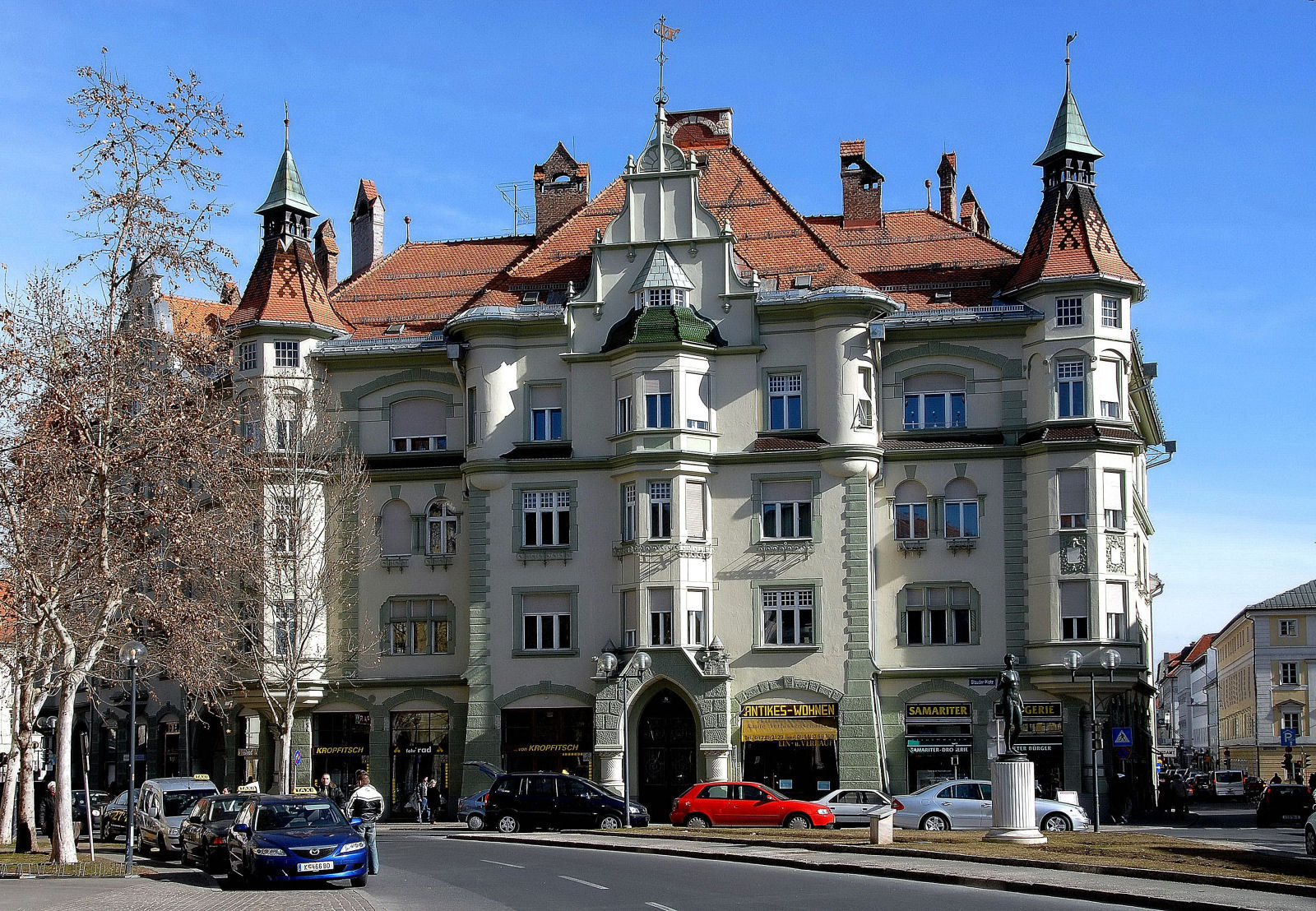 House Stauder, designed and built by Franz Baumgartner in 1909, city of Klagenfurt, Carinthia, Austria