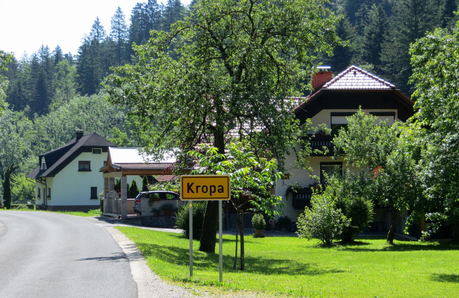 Kropa signboard