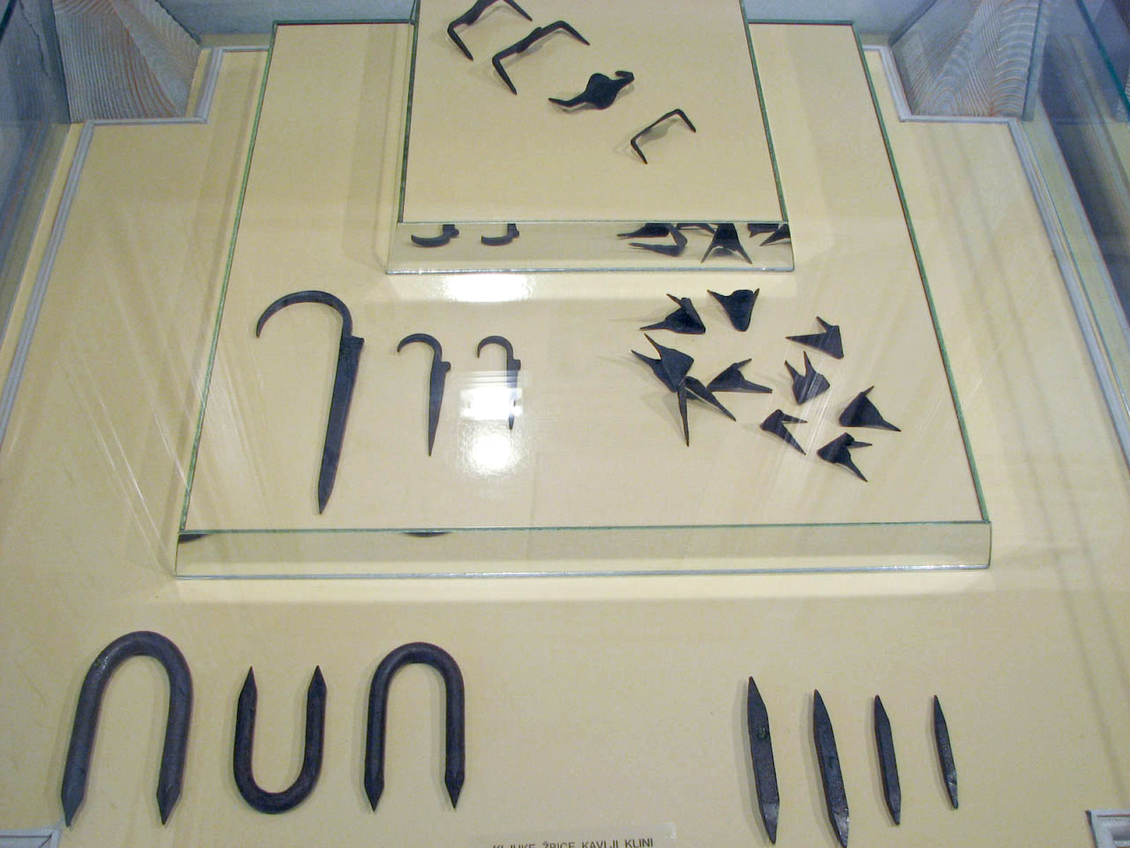 A collection of nails in the Iron Forging Museum in Kropa, Slovenia