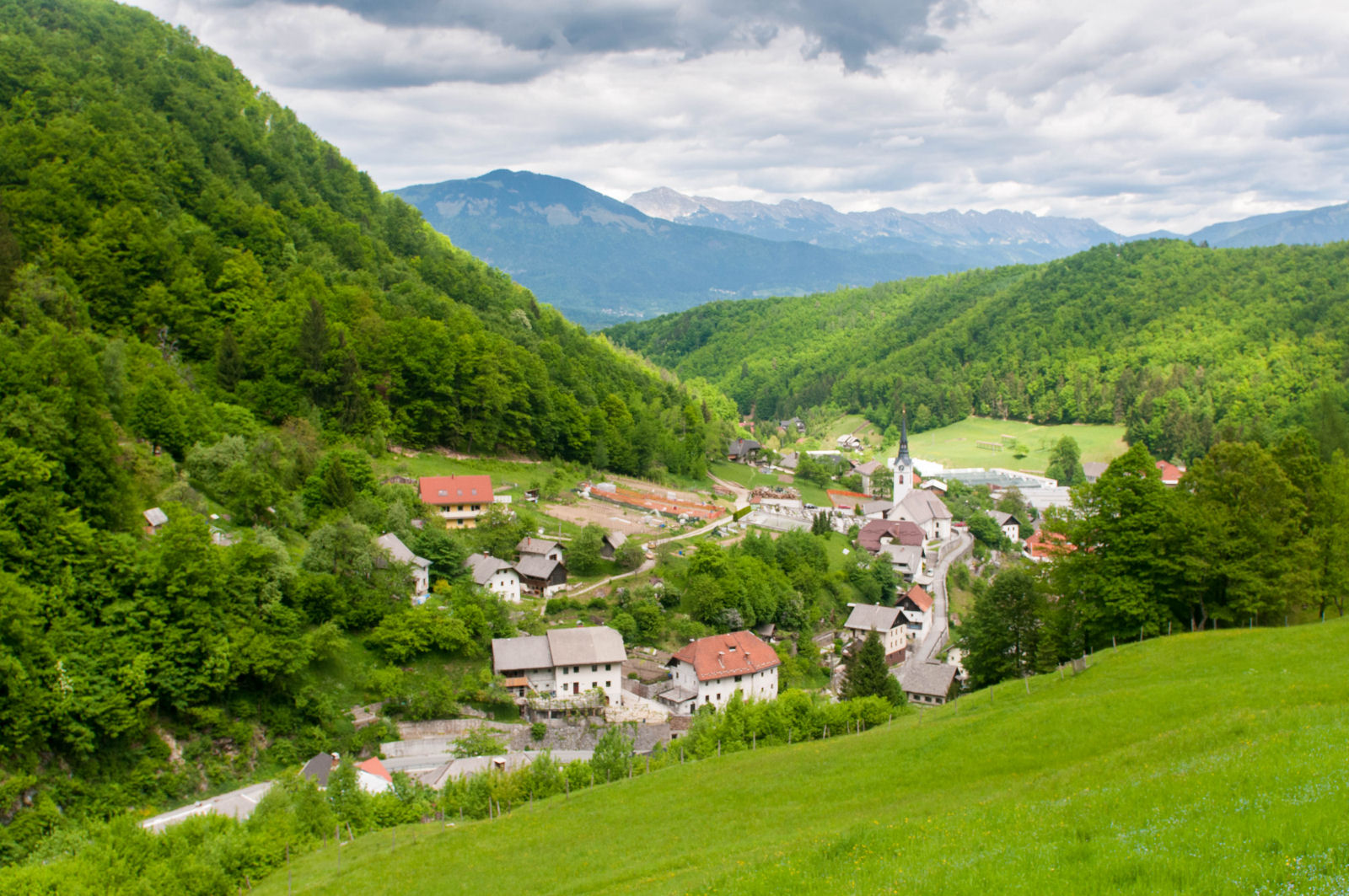 The village of Kropa, Slovenia