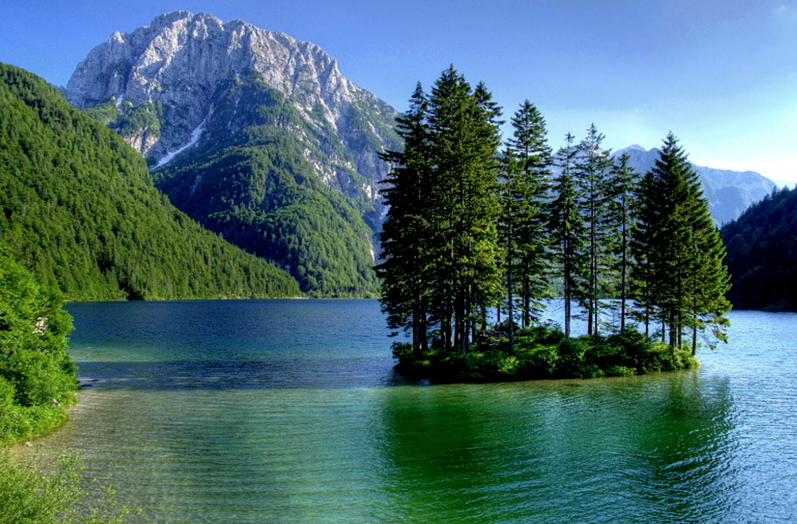 Lago del Predil is a lake in Italy near the Slovenian border
