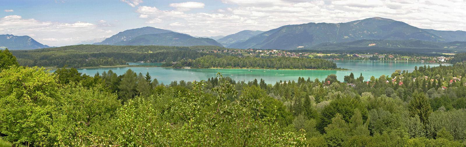 Lake Faaker See panorama, Carinthia, Austria