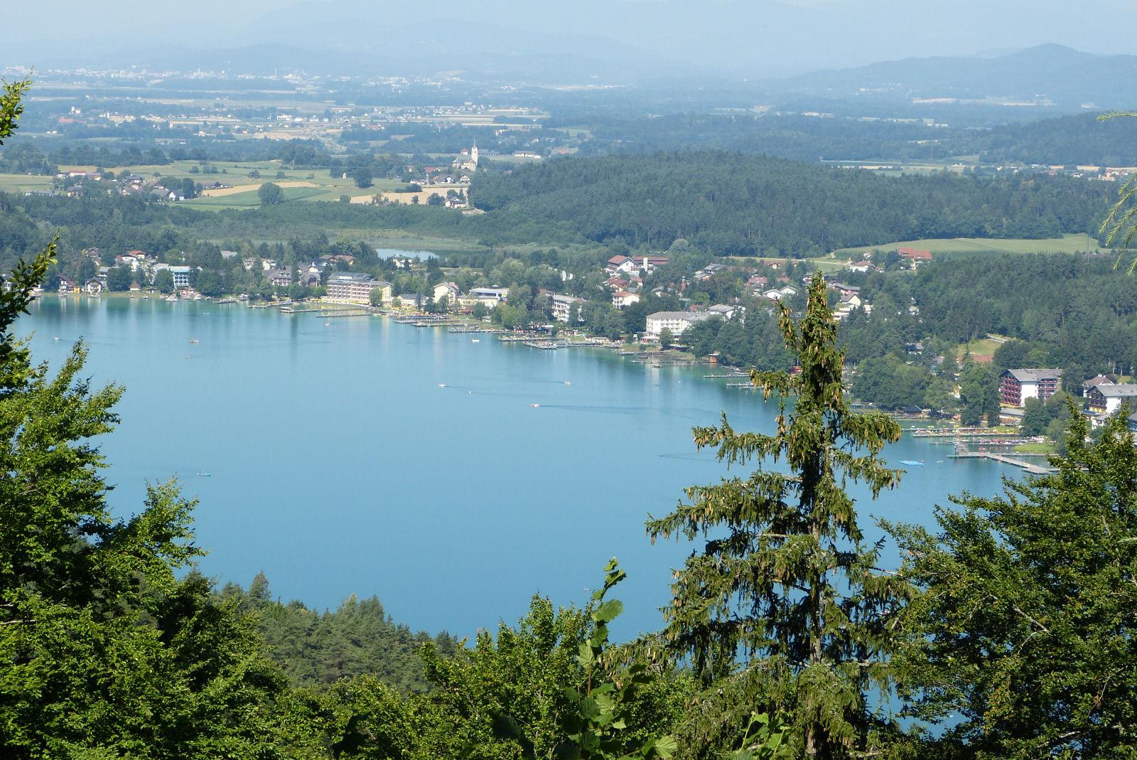 Lake Klopein or Klopeiner see in Carinthia, Austria