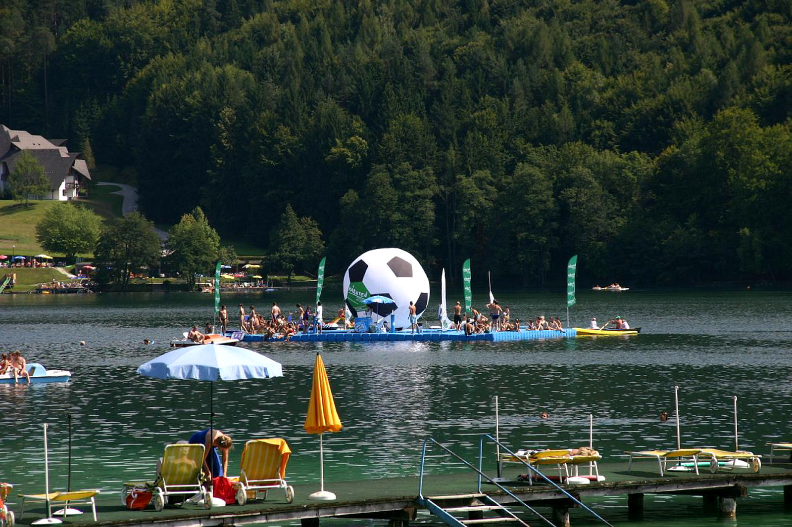 Lake Klopeiner See in Carinthia, Austria, is one of the warmest swimming lakes in Europe