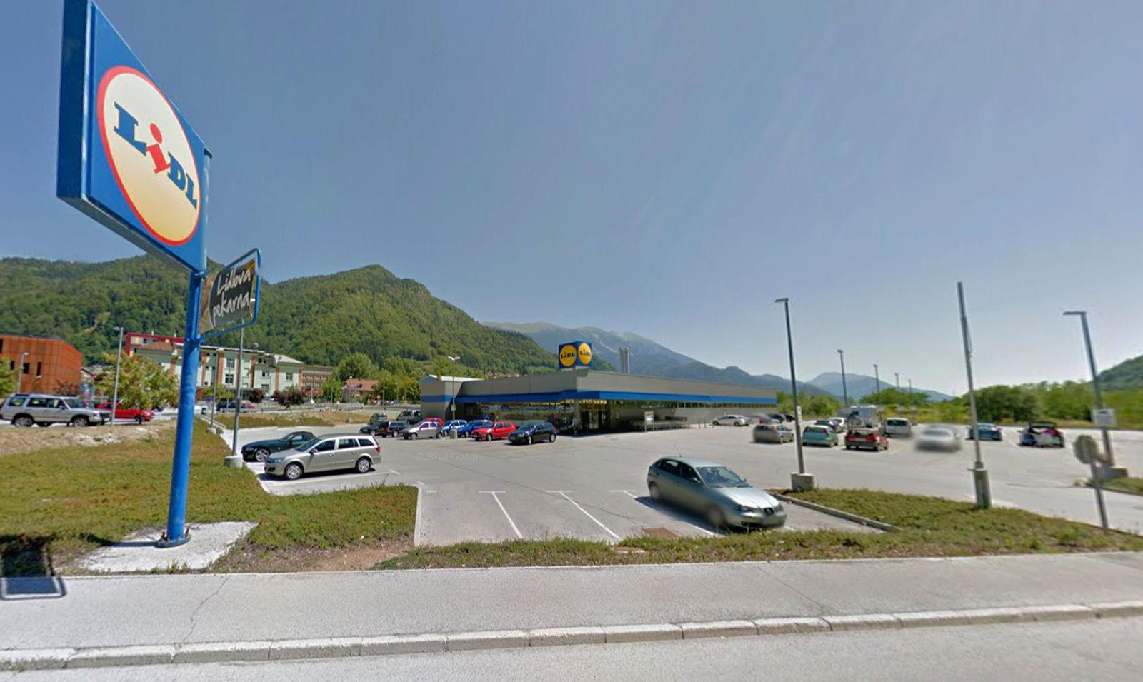 Lidl supermarket in Jesenice, Slovenia