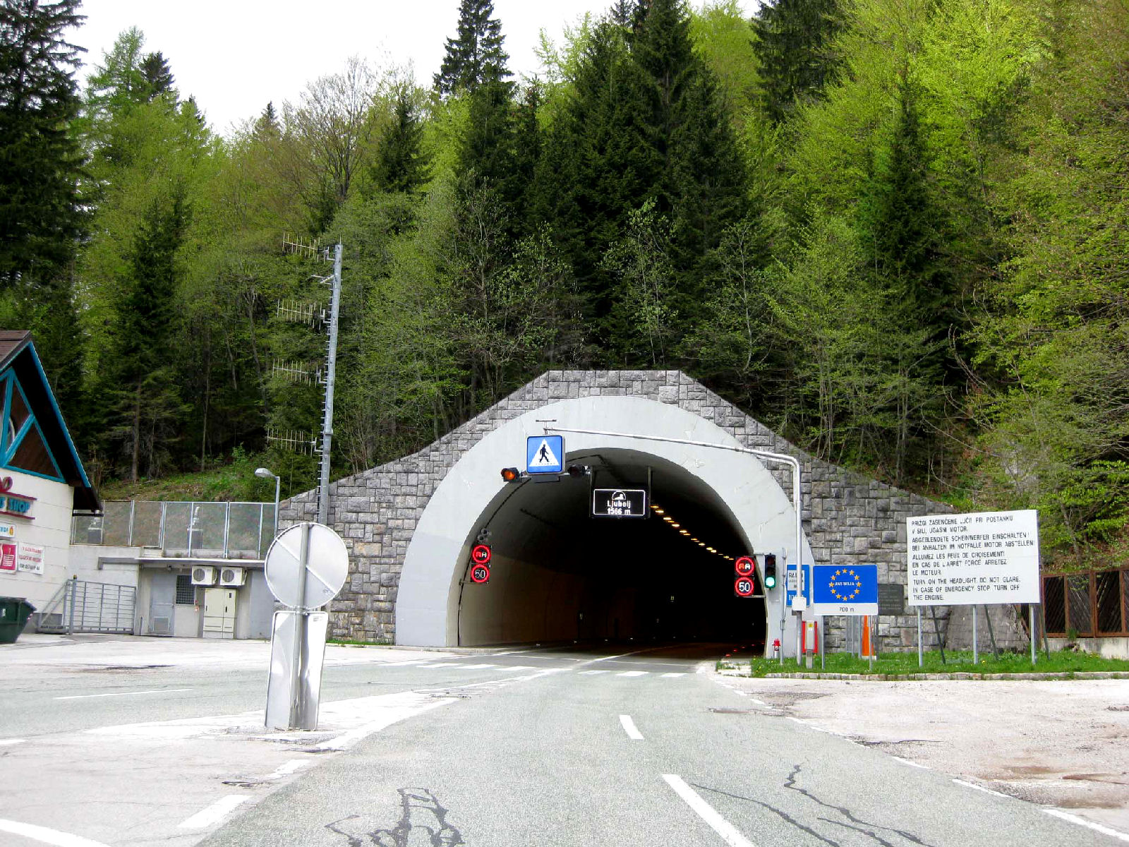 The 1566 meters long Loibl Tunnel connecting Slovenia and Austria