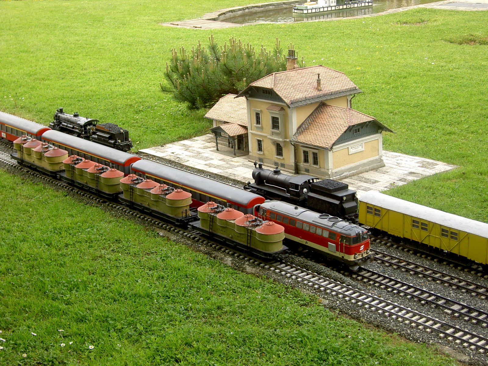 Model of the Maria Ellend train station at Minimundus, Klagenfurt, Austria
