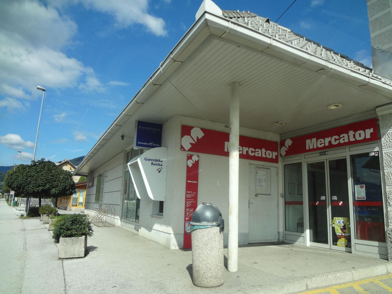 Mercator Market grocery store in Zirovnica, Slovenia