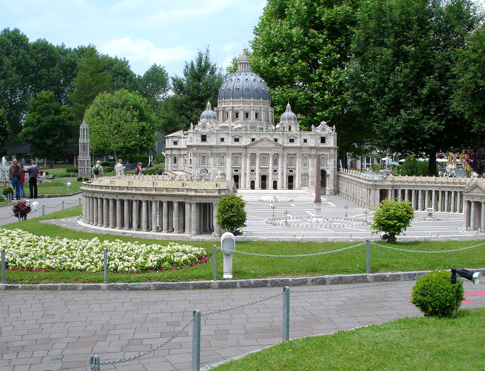 Model of the Model of the Vatican's St. Peter's basilica at Minimundus, Klagenfurt, Austria