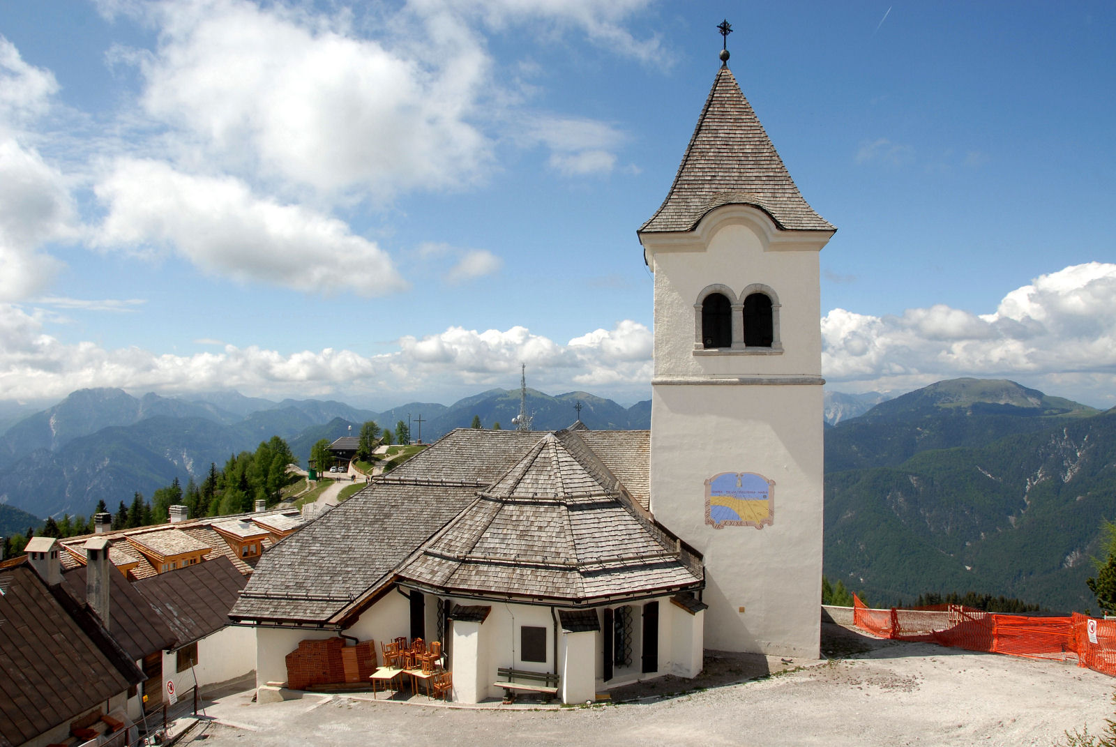 Monte Lussari with the pilgrimage church Santa Maria In Excelsis