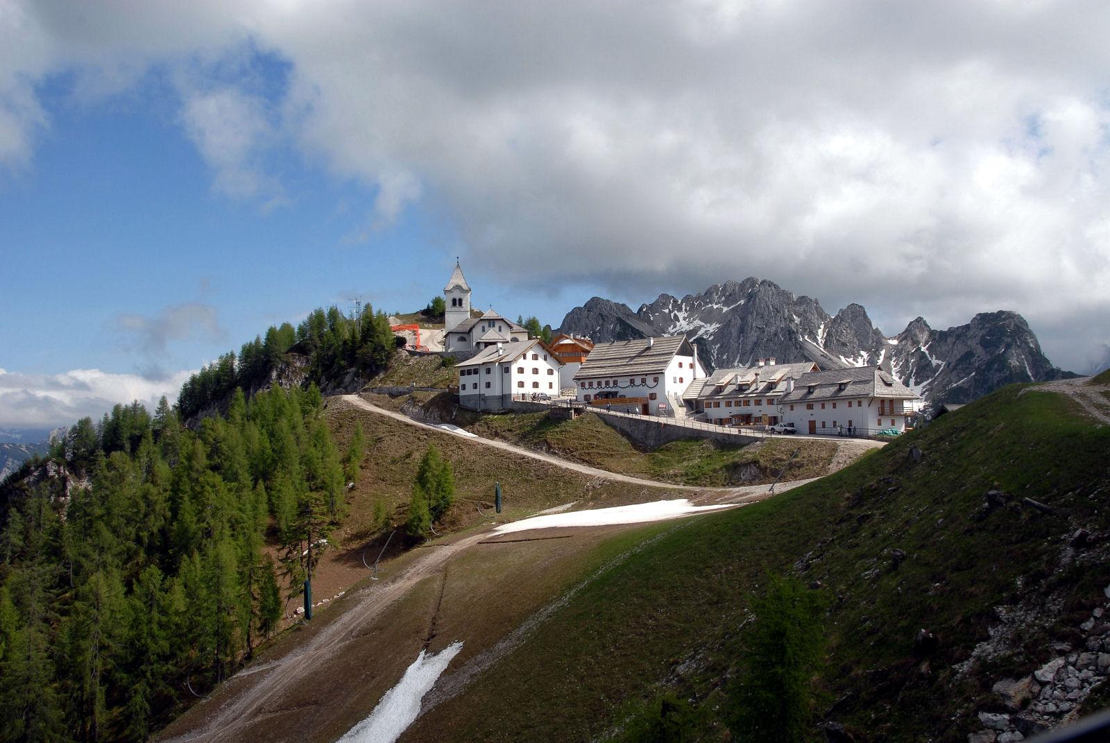 Monte Santo di Lussari in the community Tarvisio, province of Udine, region Friuli-Venezia Giulia, Italy