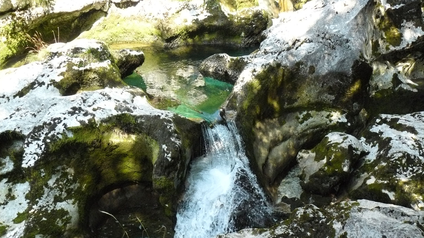 Mostnica gorge with a crystal-clear water