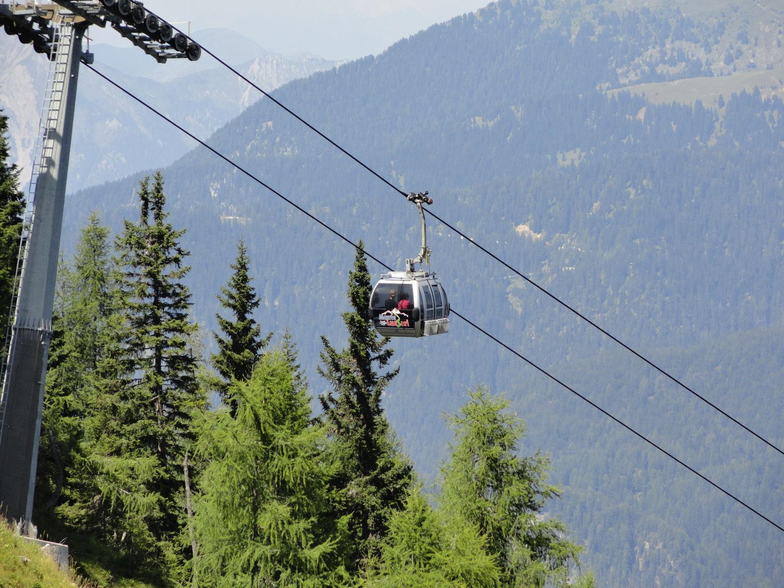Mount Lussari cable car, Tarvisio, province of Udine, region Friuli-Venezia Giulia, Italy