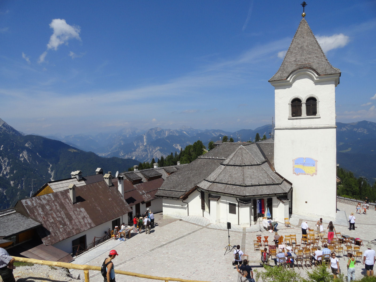 Mount Lussari with the pilgrimage church Santa Maria In Excelsis