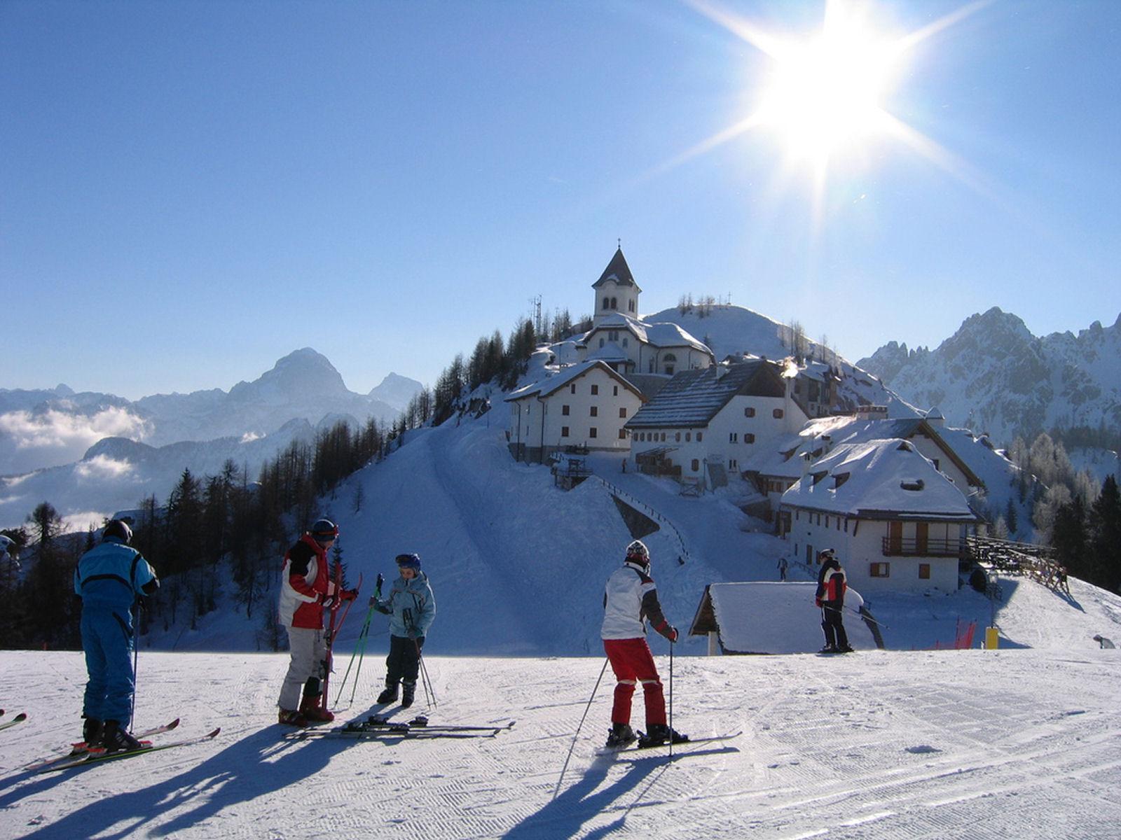 Monte Lussari in winter, Tarvisio, province of Udine, region Friuli-Venezia Giulia, Italy