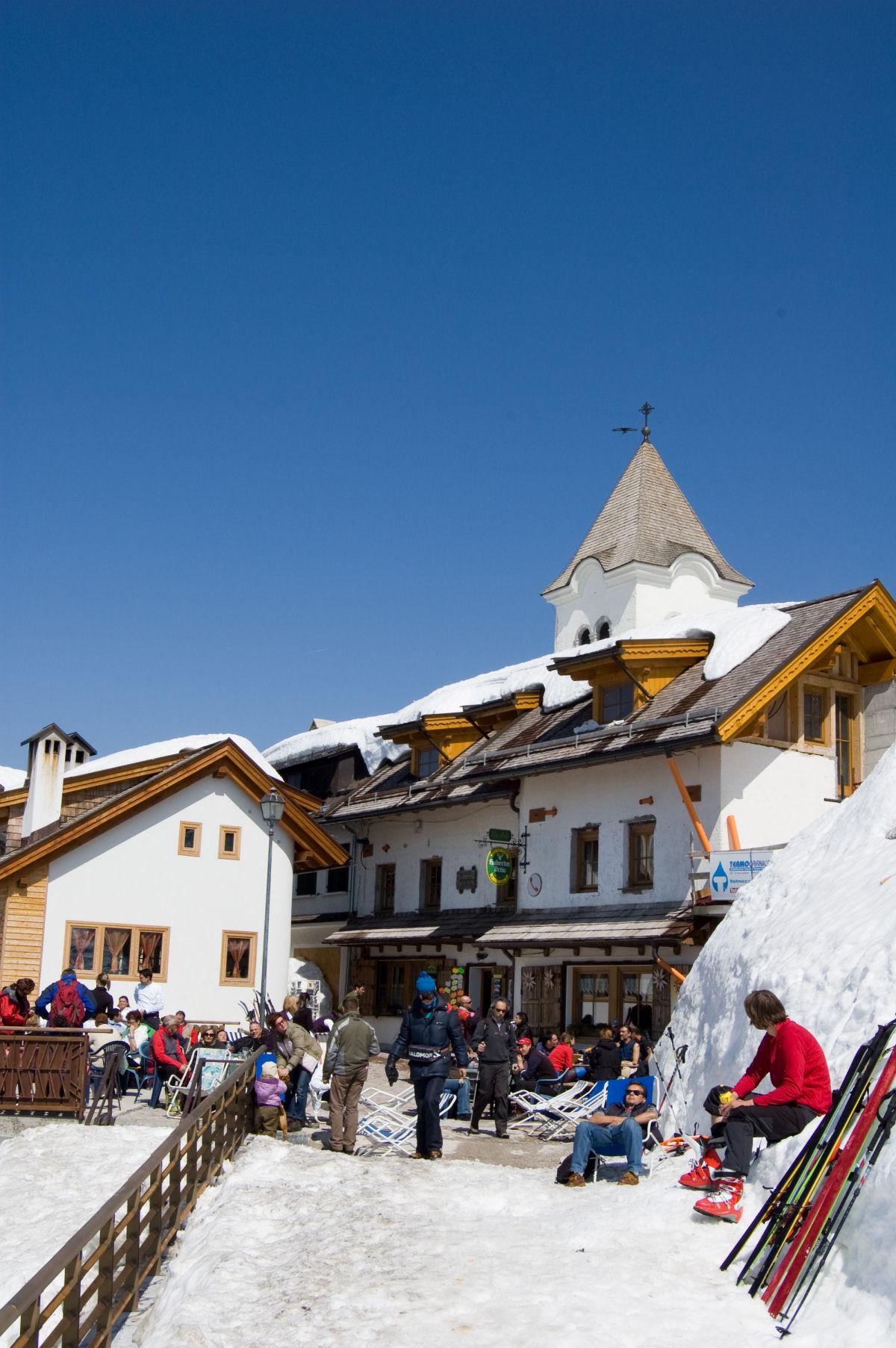 Monte Lussari in the wintertime, Tarvisio, province of Udine, region Friuli-Venezia Giulia, Italy