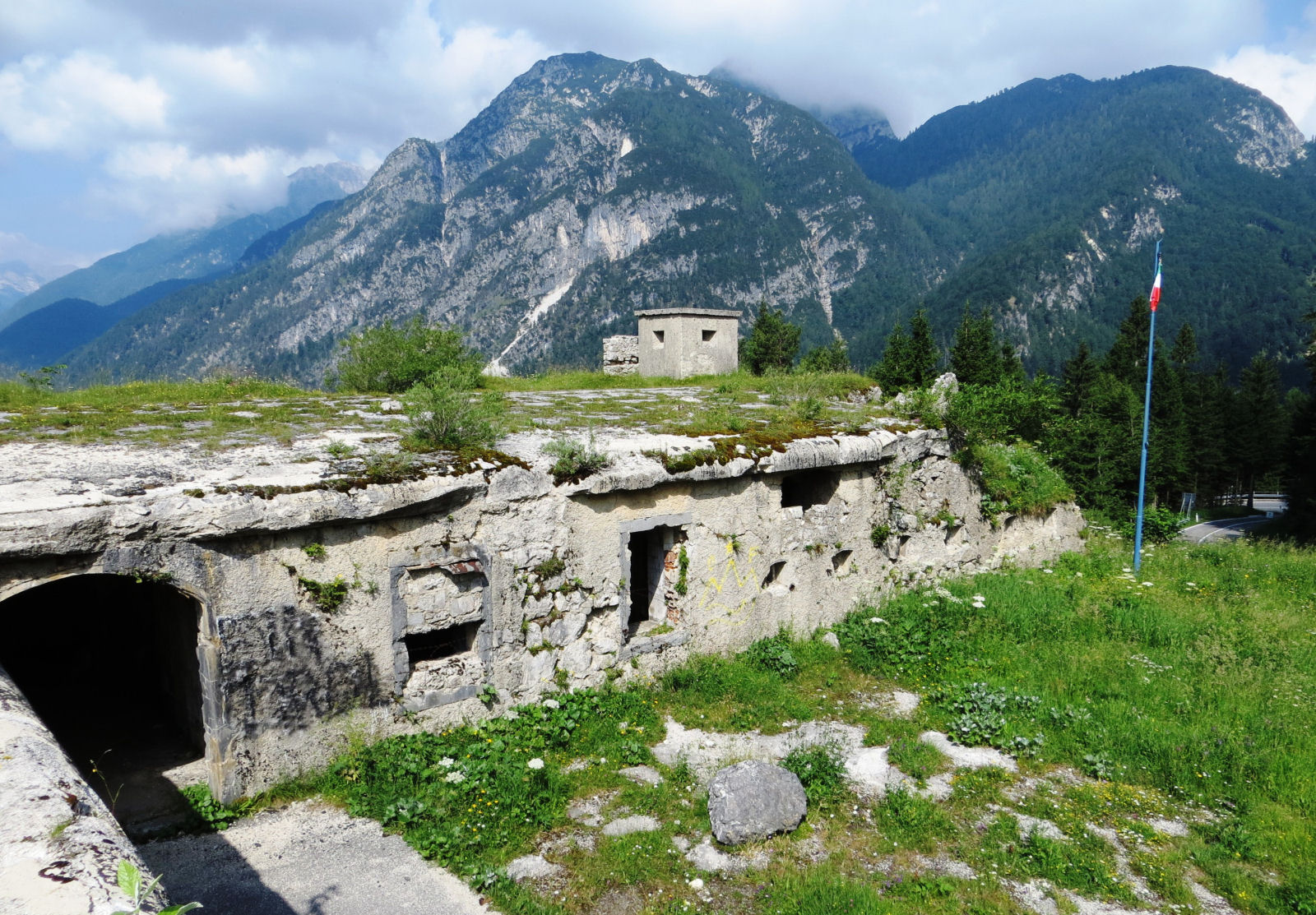 Fortification on the Italian side of the Predil Pass