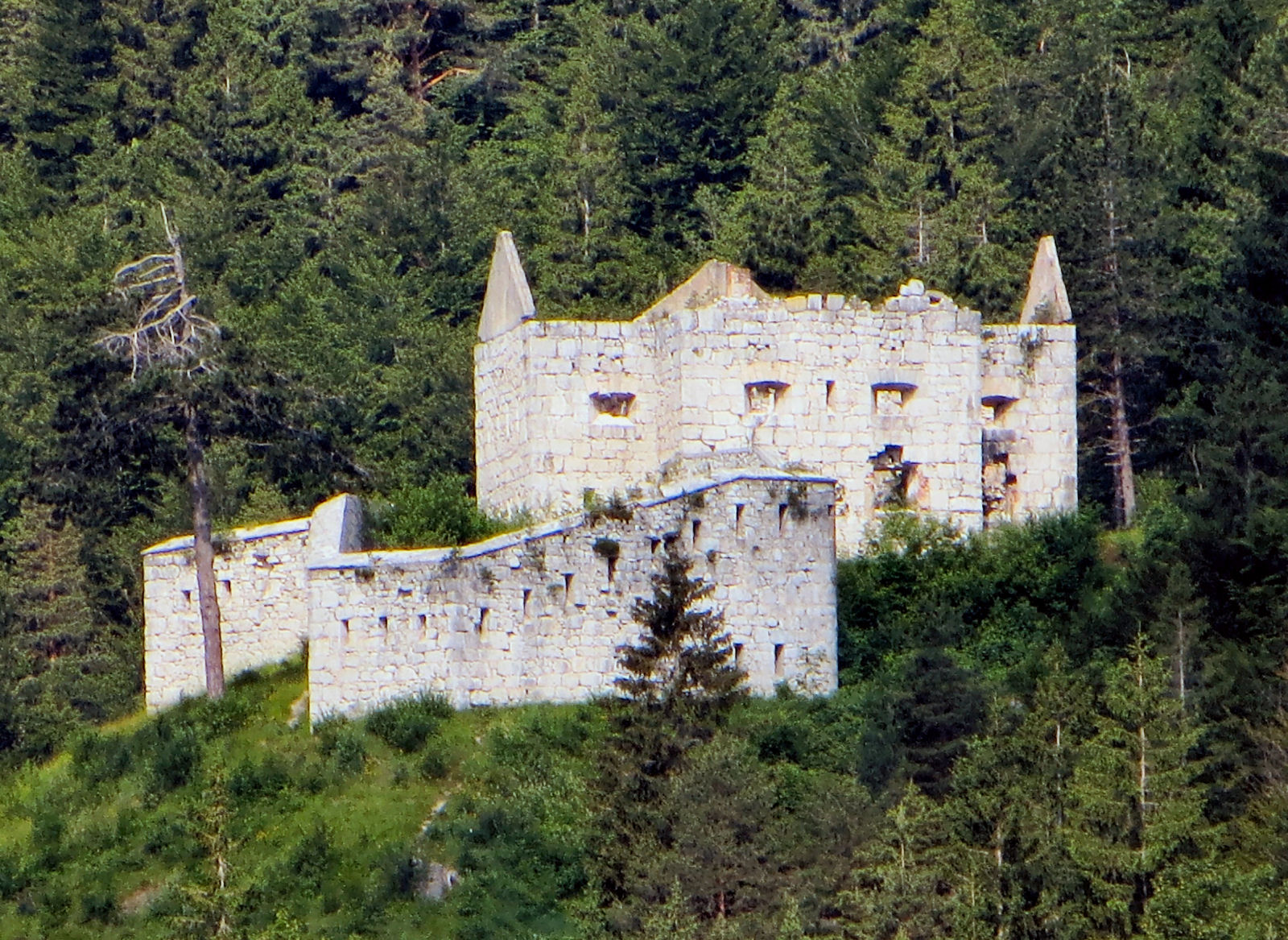 Austrian fort on the Slovenian side of the Predil Pass