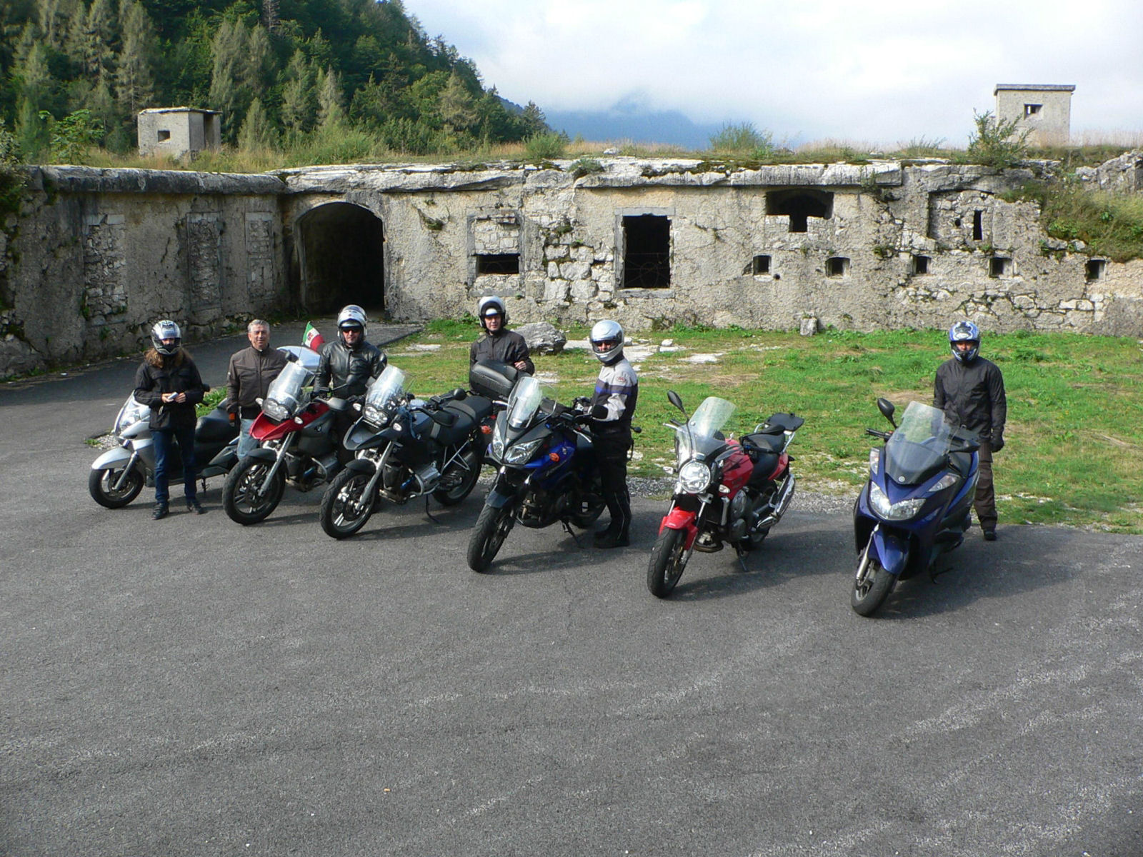 Winding road to the Predil Pass is very popular among motorcyclists