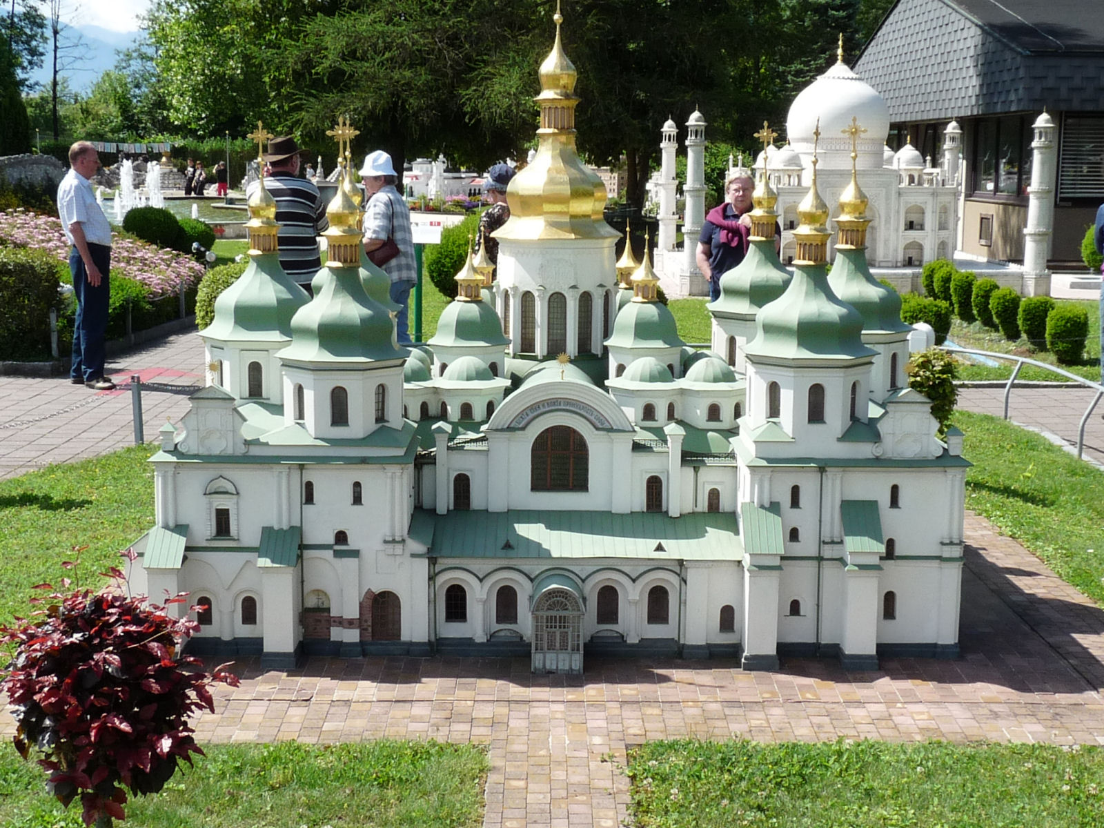 Model of the Kiev's Saint Sophia's Cathedral at Minimundus, Klagenfurt, Austria