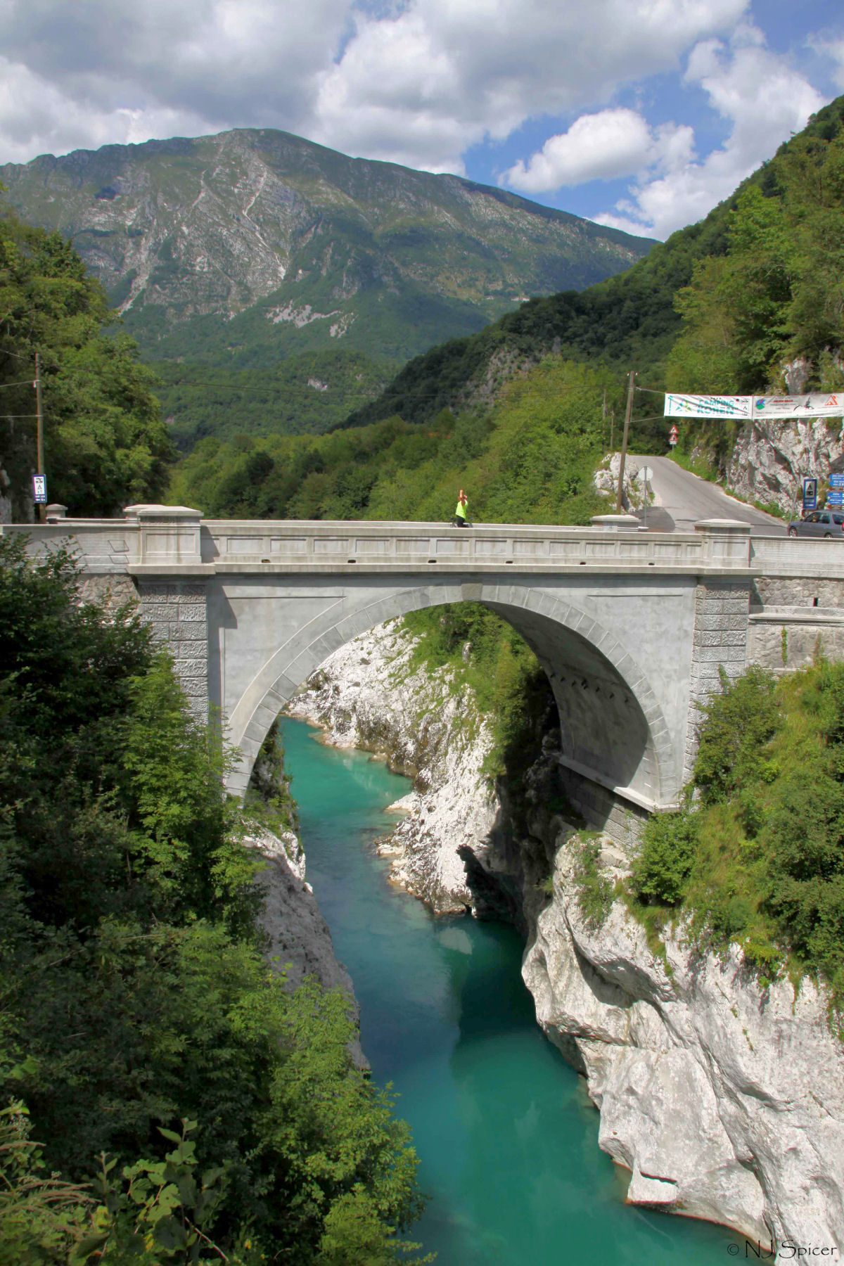 Napoleon Bridge over the Soca river near the town of Kobarid, Slovenia