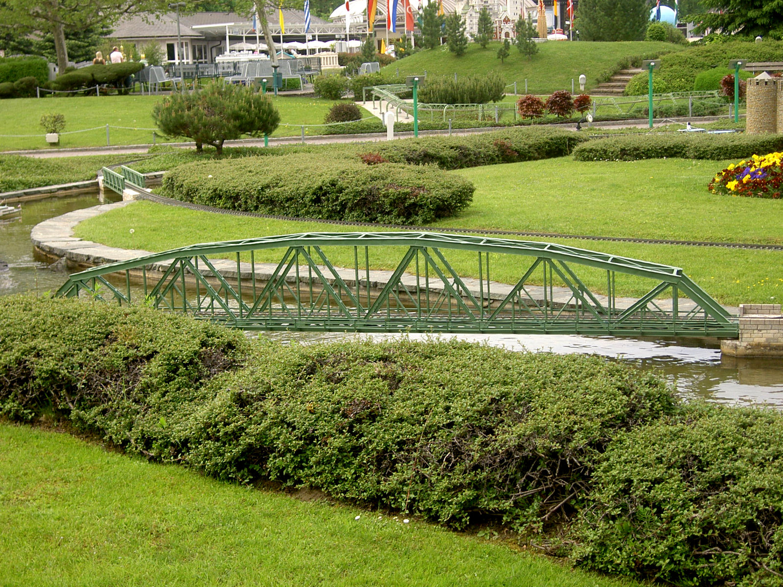 Model of the Steel truss bridge over the Mur at Minimundus, Klagenfurt, Austria