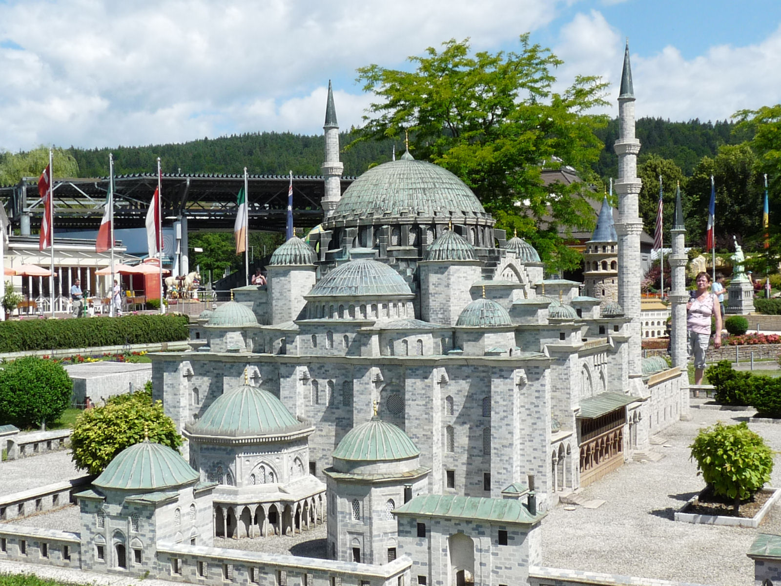 Model of the Istanbul's Süleymaniye Mosque at Minimundus, Klagenfurt, Austria