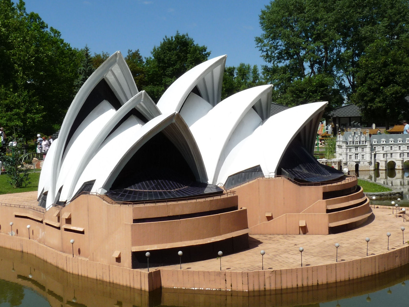 Model of the Sydney Opera House at Minimundus, Klagenfurt, Austria