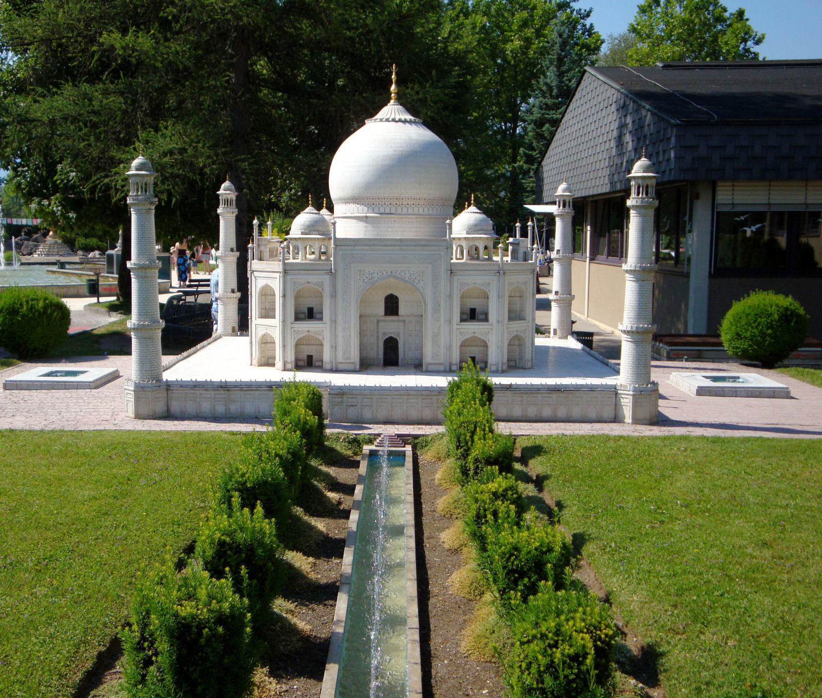 Model of the India's Taj Mahal Mausoleum at Minimundus, Klagenfurt, Austria