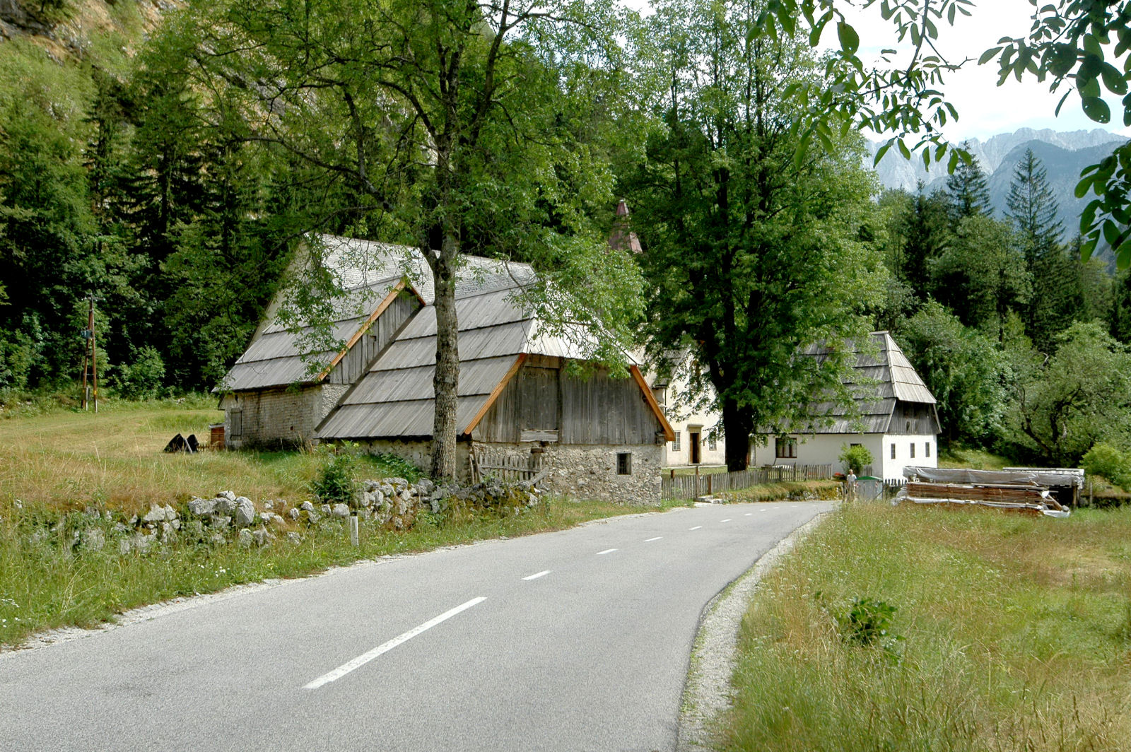 Traditional houses in the Trenta valley, Slovenia